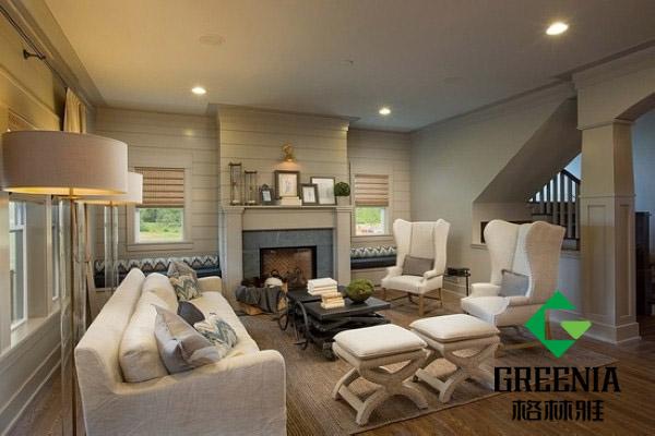 木纹墙面饰面板 突显层次感美式风格公寓